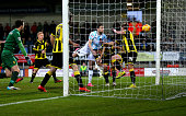 Andy Mangan of Shrewsbury Town scores a goal to make it 11 during the Sky Bet League One match between Burton Albion and Shrewsbury Town at Pirelli...