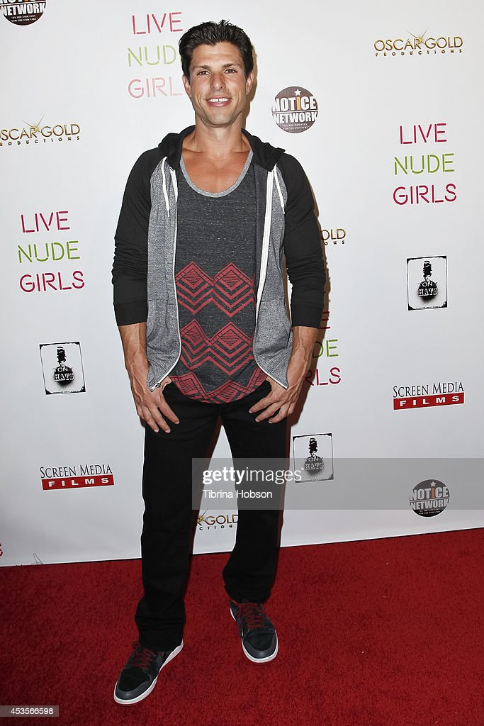 Andy Martinez Jr. attends the 'Live Nude Girls' premiere at Avalon on August 12, 2014 in Hollywood, California.