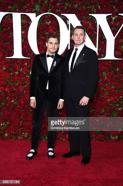 Andy Mientus and director Michael Arden attend the 70th Annual Tony Awards at The Beacon Theatre on June 12 2016 in New York City