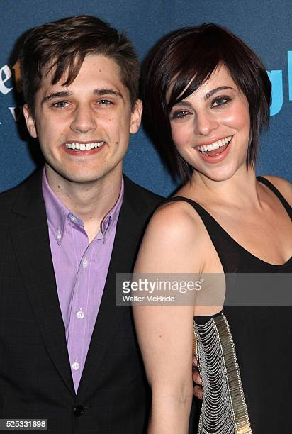 Andy Mientus Krysta Rodrigues attending the 24th Annual GLAAD Media Awards at the Marriott Marquis Hotel in New York City on 3/16/2013