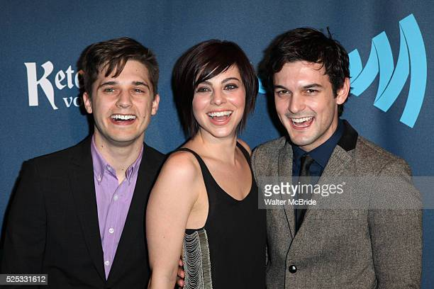 Andy Mientus Krysta Rodrigues Wesley Taylor attending the 24th Annual GLAAD Media Awards at the Marriott Marquis Hotel in New York City on 3/16/2013