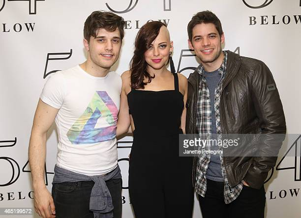 Andy Mientus Krysta Rodriguez and Jeremy Jordan attend 54 Below on March 3 2015 in New York City