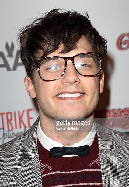 Andy Mientus sporting a pair of signature 'Ralphie' specs at the Broadway Opening Night Performance for 'A Christmas Story The Musical' at the Lunt...
