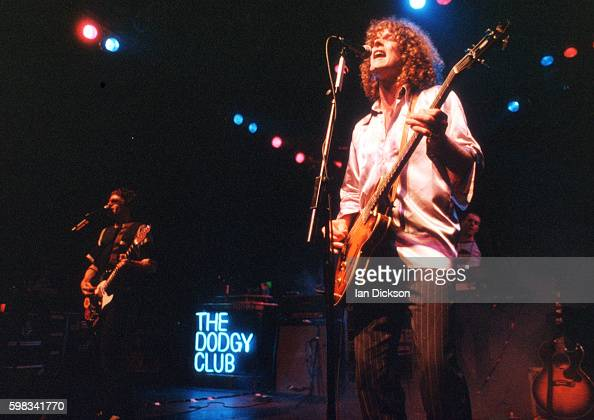 Andy Miller and Nigel Clark of Dodgy performing on stage at The Forum Kentish Town London 09 June 1995