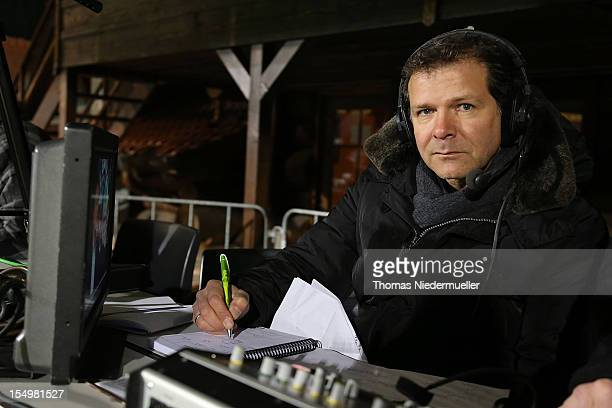 Andy Moeller looks on prior to the A Juniors Bundesliga match between VfB Stuttgart U19 and FC Bayern Muenchen U19 at comtech Arena on October 29...