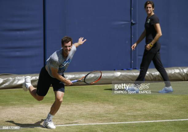 Andy Murray and Amelie Mauresmo during the AEGON Championships at The Queen's Club London