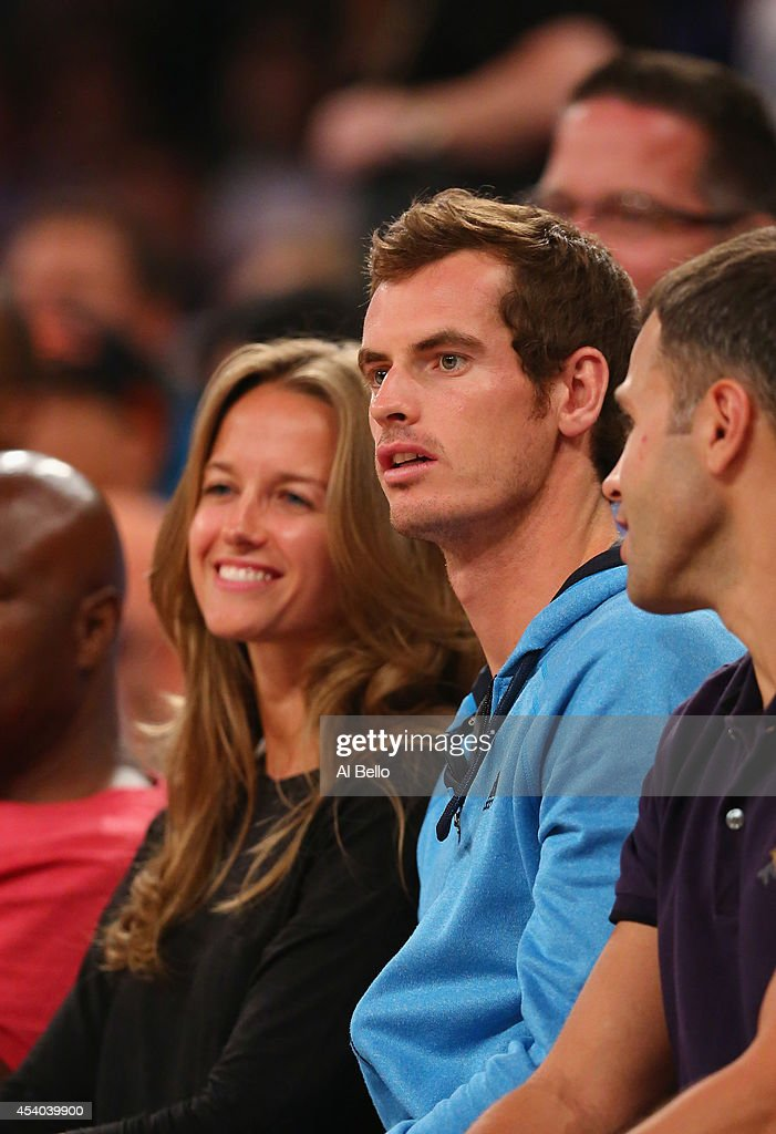 <a gi-track='captionPersonalityLinkClicked' href=/galleries/search?phrase=Andy+Murray+-+Tennis+Player&family=editorial&specificpeople=200668 ng-click='$event.stopPropagation()'>Andy Murray</a> and girlfriend Kim Sears watch the USA against Puerto Rico game at Madison Square Garden on August 22, 2014 in New York City.