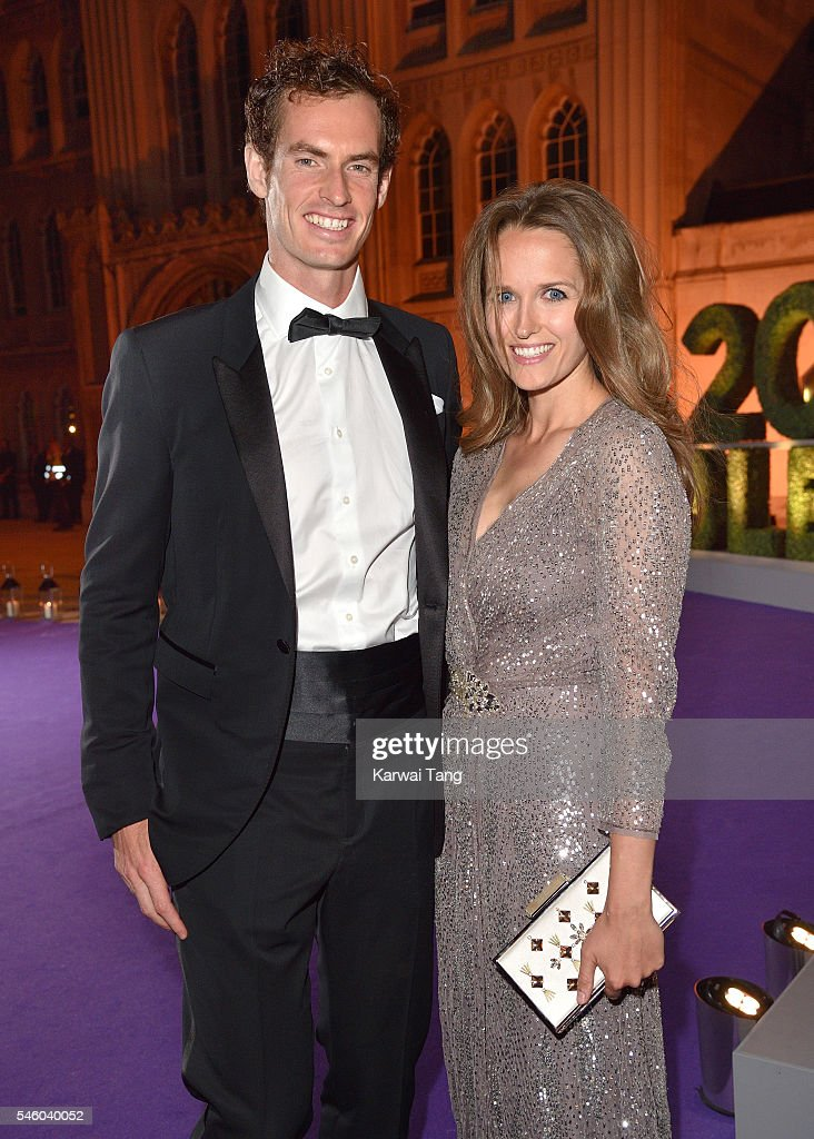 Andy Murray and Kim Murray attend the Wimbledon Winners Ball at The Guildhall on July 10, 2016 in London, England.