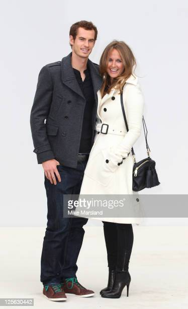 Andy Murray and Kim Sears arrive at Burberry Prorsum S/S 2012 show at London Fashion Week at Kensington Gardens on September 19 2011 in London England