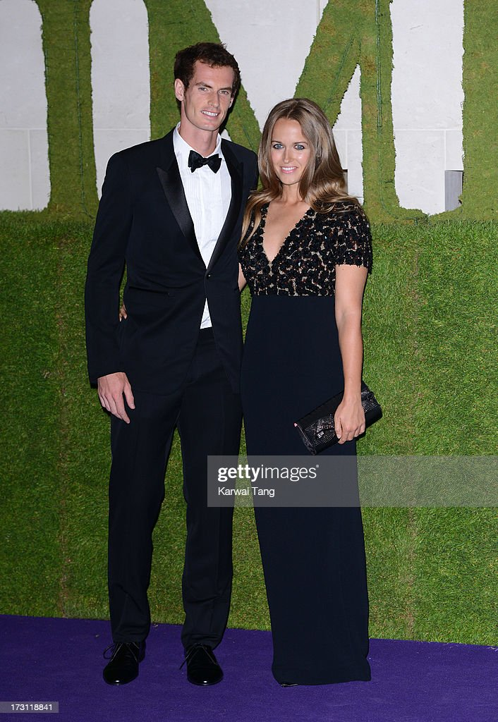<a gi-track='captionPersonalityLinkClicked' href=/galleries/search?phrase=Andy+Murray+-+Tennis+Player&family=editorial&specificpeople=200668 ng-click='$event.stopPropagation()'>Andy Murray</a> and Kim Sears arrive for the Wimbledon Champions Dinner held at the InterContinental Park Lane Hotel on July 7, 2013 in London, England.