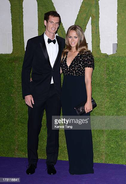 Andy Murray and Kim Sears arrive for the Wimbledon Champions Dinner held at the InterContinental Park Lane Hotel on July 7 2013 in London England