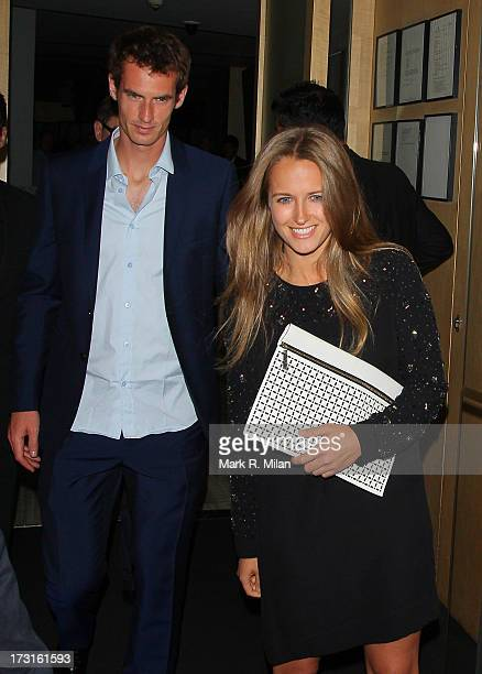 Andy Murray and Kim Sears at Nobu restaurant on July 8 2013 in London England