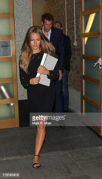 Andy Murray and Kim Sears at Rose night club on July 8 2013 in London England