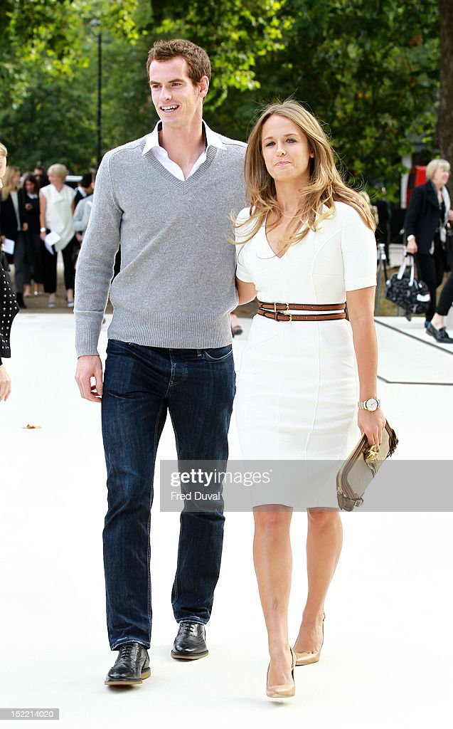 Andy Murray and Kim Sears attend the Burberry Prorsum show on day 4 of London Fashion Week Spring/Summer 2013, on September 17, 2012 in London, England.