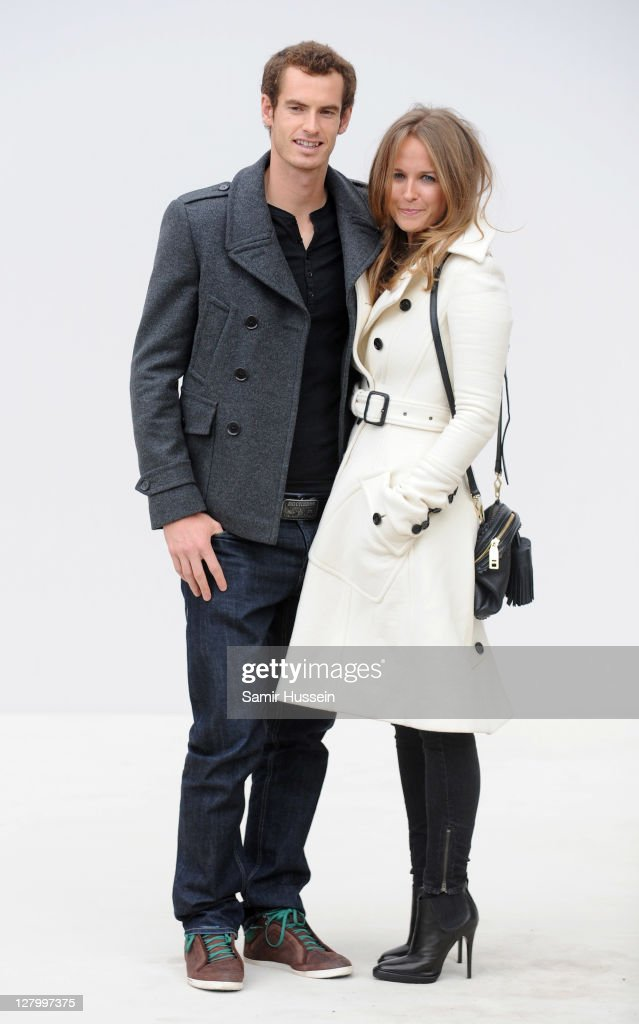 <a gi-track='captionPersonalityLinkClicked' href=/galleries/search?phrase=Andy+Murray+-+Tennisser&family=editorial&specificpeople=200668 ng-click='$event.stopPropagation()'>Andy Murray</a> and Kim Sears attend the Burberry Spring Summer 2012 Womenswear Show at Kensington Gardens on September 19, 2011 in London, England.