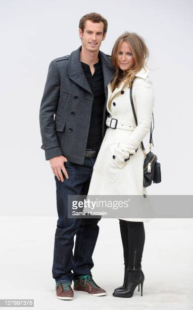 Andy Murray and Kim Sears attend the Burberry Spring Summer 2012 Womenswear Show at Kensington Gardens on September 19 2011 in London England