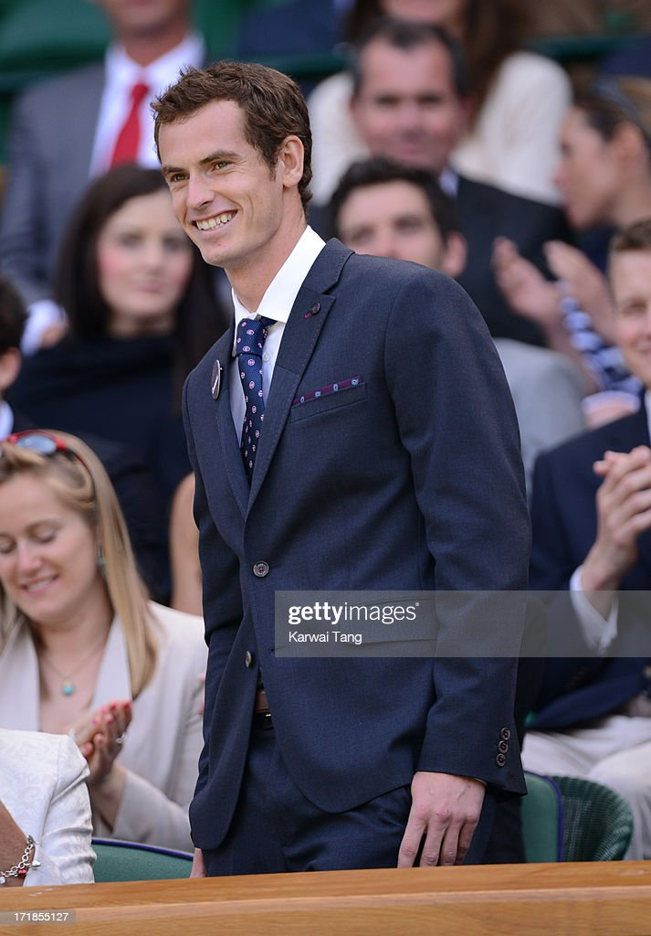 <a gi-track='captionPersonalityLinkClicked' href=/galleries/search?phrase=Andy+Murray+-+Tennisser&family=editorial&specificpeople=200668 ng-click='$event.stopPropagation()'>Andy Murray</a> attends on Day 6 of the Wimbledon Lawn Tennis Championships at the All England Lawn Tennis and Croquet Club on June 29, 2013 in London, England.