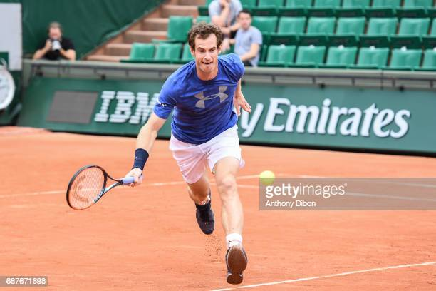 Andy Murray during qualifying match of the 2017 French Open at Roland Garros on May 24 2017 in Paris France
