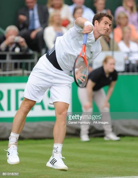 Andy Murray during the BNP Paribas Tennis Classic at the Hurlingham Club London