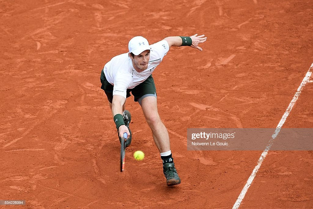 Andy Murray during the Men's Singles second round on day four of the French Open 2016 at Roland Garros on May 25, 2016 in Paris, France.