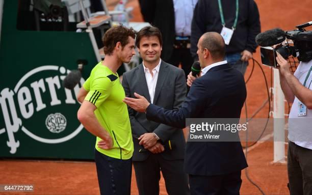 Andy MURRAY / Fabrice SANTORO / Cedric PIOLINE Roland Garros 2014 Photo Dave Winter / Icon Sport