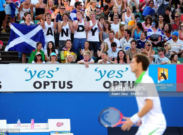 Andy Murray fans cheer him on during his match against Ukraine's Illya Marchenko
