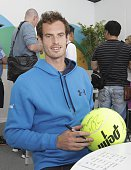 Andy Murray is seen during the Miami Open Media Day at Crandon Park Tennis Center on March 22 2016 in Key Biscayne Florida