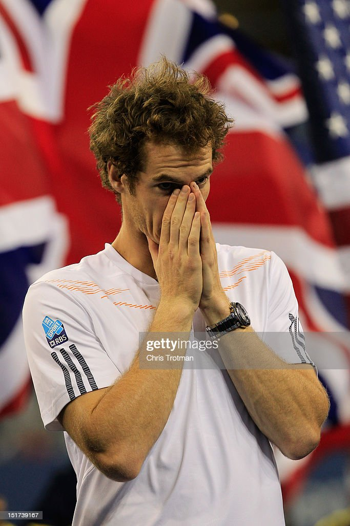 <a gi-track='captionPersonalityLinkClicked' href=/galleries/search?phrase=Andy+Murray+-+Tennis+Player&family=editorial&specificpeople=200668 ng-click='$event.stopPropagation()'>Andy Murray</a> of Great Britain celebrates after defeating Novak Djokovic of Serbia in the men's singles final match on Day Fifteen of the 2012 U.S. Open at the USTA Billie Jean King National Tennis Center on September 10, 2012 in the Flushing neighborhood, of the Queens borough of New York City.