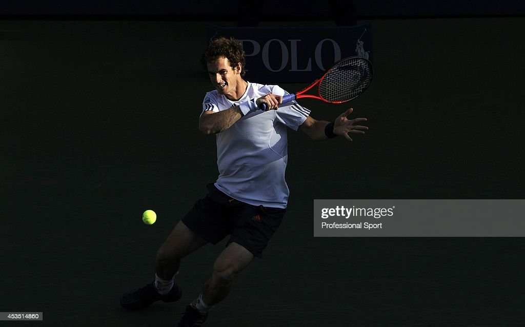 Andy Murray of Great Britain in action during his men's singles final match against Novak Djokovic of Serbia on Day Fifteen of the 2012 US Open at USTA Billie Jean King National Tennis Center on September 10, 2012 in the Flushing neighborhood of the Queens borough of New York City.