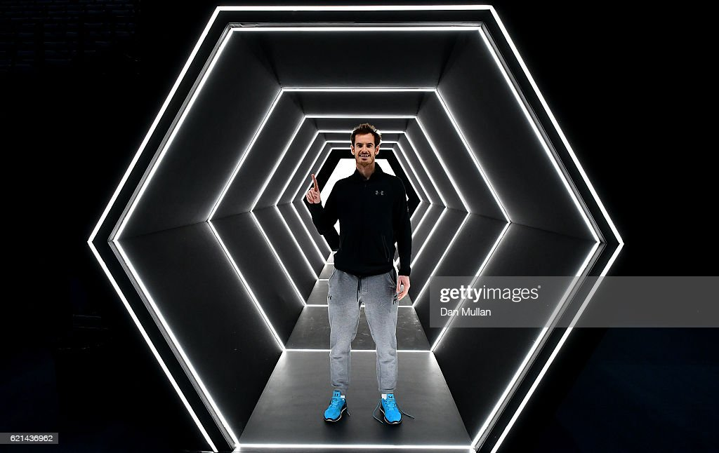 Andy Murray of Great Britain poses after winning the Mens Singles Final against John Isner of the United States on day seven of the BNP Paribas Masters at Palais Omnisports de Bercy on November 6, 2016 in Paris, France.
