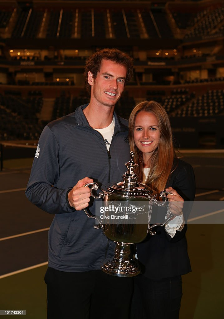 Andy Murray of Great Britain poses with the US Open championship trophy along with his girlfriend Kim Sears, during Day Fifteen of the 2012 US Open at USTA Billie Jean King National Tennis Center on September 10, 2012 in the Flushing neighborhood of the Queens borough of New York City.