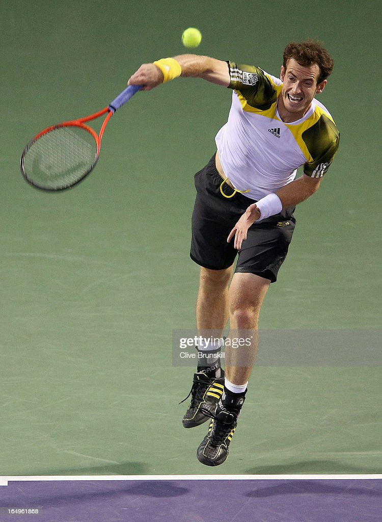 <a gi-track='captionPersonalityLinkClicked' href=/galleries/search?phrase=Andy+Murray+-+Tennis+Player&family=editorial&specificpeople=200668 ng-click='$event.stopPropagation()'>Andy Murray</a> of Great Britain serves against Richard Gasquet of France during their semi final match at the Sony Open at Crandon Park Tennis Center on March 29, 2013 in Key Biscayne, Florida.