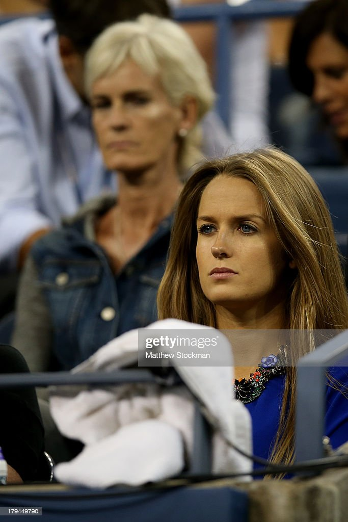 Andy Murray of Great Britain's girlfriend Kim Sears and his mother Judy Murray watch his men's singles fourth round match against Denis Istomin of Uzbekistan on Day Nine of the 2013 US Open at USTA Billie Jean King National Tennis Center on September 3, 2013 in the Flushing neighborhood of the Queens borough of New York City.