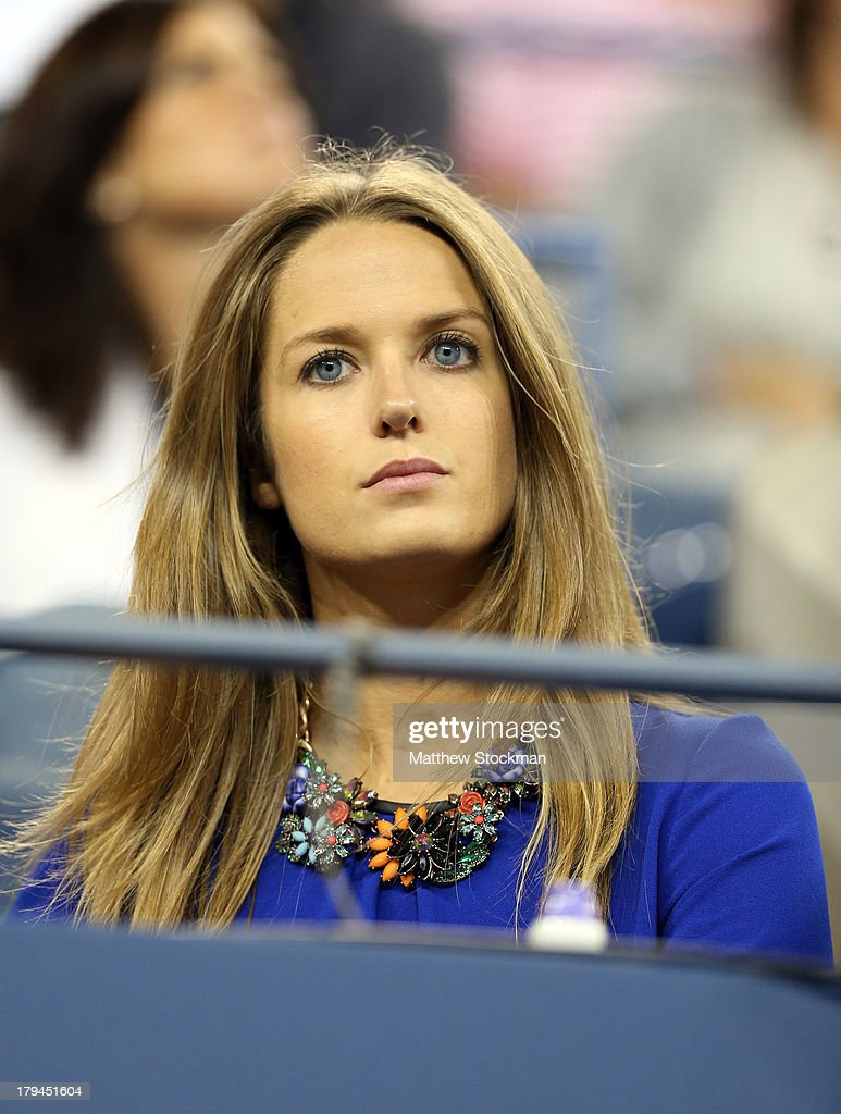 Andy Murray of Great Britain's girlfriend Kim Sears watch his men's singles fourth round match against Denis Istomin of Uzbekistan on Day Nine of the 2013 US Open at USTA Billie Jean King National Tennis Center on September 3, 2013 in the Flushing neighborhood of the Queens borough of New York City.