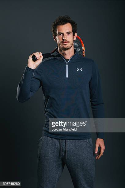 Andy Murray poses for a portrait during the Andy Murray Live Presented By SSE Launch at Wimbledon on April 22 2016 in London England