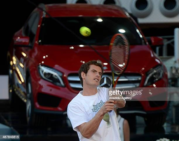 Andy Murray Scottish professional tennis player ranked World No 6 during the Charity Day at the Matua Madrid Open at the Caja Magica on May 2 2014 in...