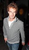 Andy Murray sighting leaving Nobu Restaurant Mayfair on May 20 2013 in London England