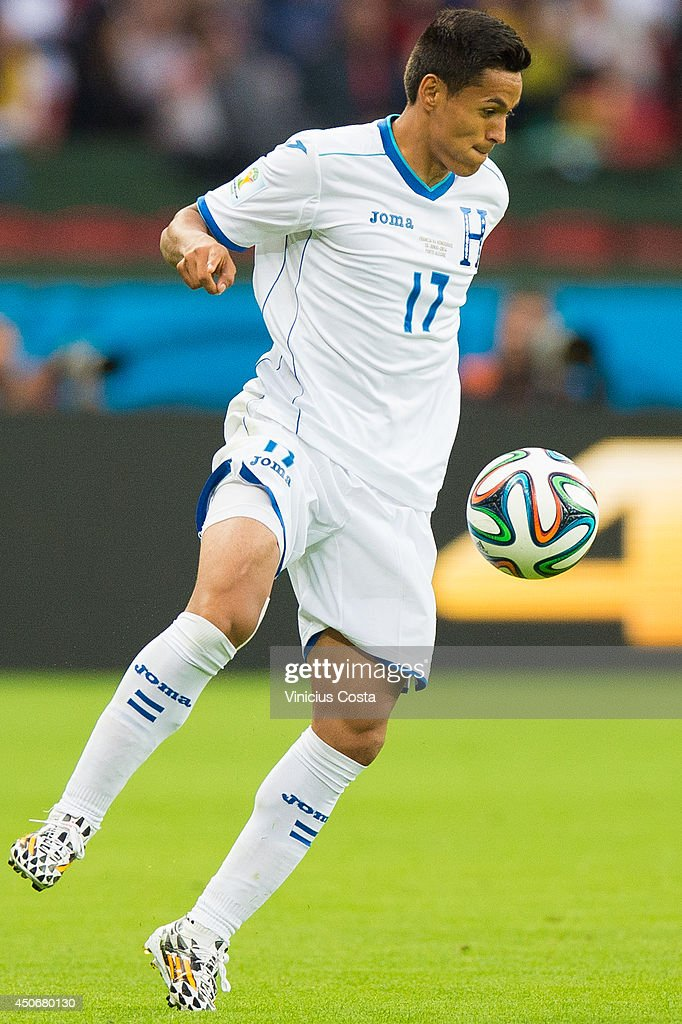 <a gi-track='captionPersonalityLinkClicked' href=/galleries/search?phrase=Andy+Najar&family=editorial&specificpeople=6872158 ng-click='$event.stopPropagation()'>Andy Najar</a> of Honduras dominate the ball during the 2014 FIFA World Cup Brazil Group E match between France and Honduras at Estadio Beira-Rio on June 15, 2014 in Porto Alegre, Brazil.