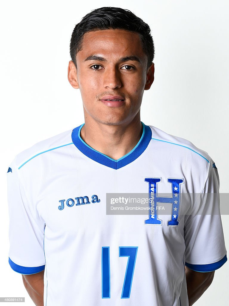 <a gi-track='captionPersonalityLinkClicked' href=/galleries/search?phrase=Andy+Najar&family=editorial&specificpeople=6872158 ng-click='$event.stopPropagation()'>Andy Najar</a> of Honduras poses during the Official FIFA World Cup 2014 portrait session on June 10, 2014 in Porto Feliz, Brazil.