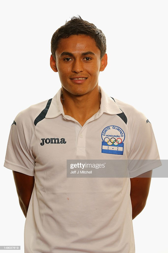 <a gi-track='captionPersonalityLinkClicked' href=/galleries/search?phrase=Andy+Najar&family=editorial&specificpeople=6872158 ng-click='$event.stopPropagation()'>Andy Najar</a> poses for Honduras Men's Official Olympic Football Team Portraits on July 22, 2012 in Glasgow, Scotland.