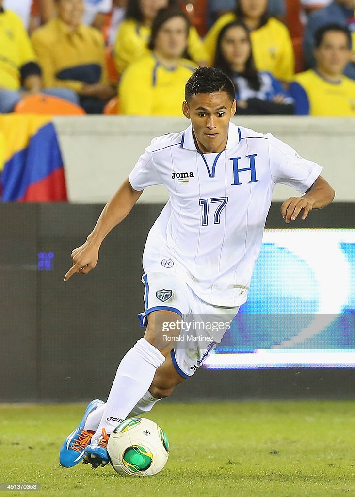 <a gi-track='captionPersonalityLinkClicked' href=/galleries/search?phrase=Andy+Najar&family=editorial&specificpeople=6872158 ng-click='$event.stopPropagation()'>Andy Najar</a>#17 of Honduras during an international friendly match at BBVA Compass Stadium on November 19, 2013 in Houston, Texas.