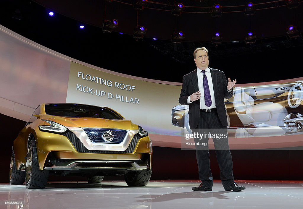Andy Palmer, executive vice president of Nissan Motor Co., speaks during the unveiling of the Resonance concept sports utility vehicle (SUV) at the 2013 North American International Auto Show (NAIAS) in Detroit, Michigan, U.S., on Tuesday, Jan. 15, 2013. The Detroit auto show runs through Jan. 27 and will display over 500 vehicles, representing the most innovative designs in the world. Photographer: David Paul Morris/Bloomberg via Getty Images