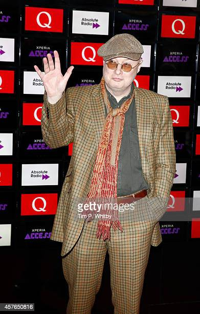 Andy Partridge poses for photos in front of the worlds first digital branding board from Sony at the Xperia Access Q Awards at The Grosvenor House...