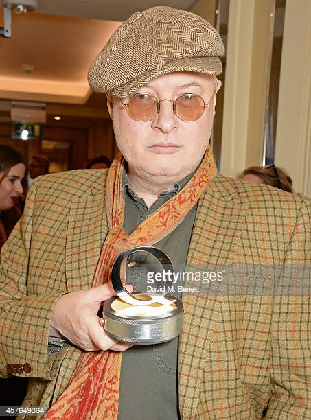 Andy Partridge winner of the Q Songwriter award poses in the press room at the Xperia Access Q Awards at The Grosvenor House Hotel on October 22 2014...