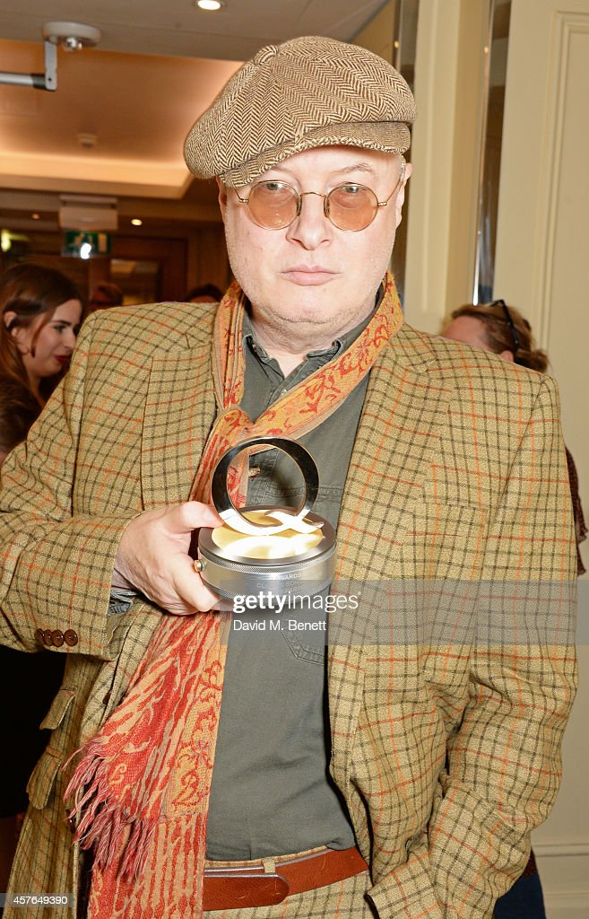 Andy Partridge, winner of the Q Songwriter award, poses in the press room at the Xperia Access Q Awards at The Grosvenor House Hotel on October 22, 2014 in London, England.