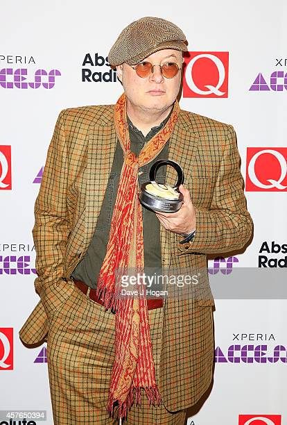 Andy Partridge with his Q Songwriter award at the Xperia Access Q Awards at The Grosvenor House Hotel on October 22 2014 in London England