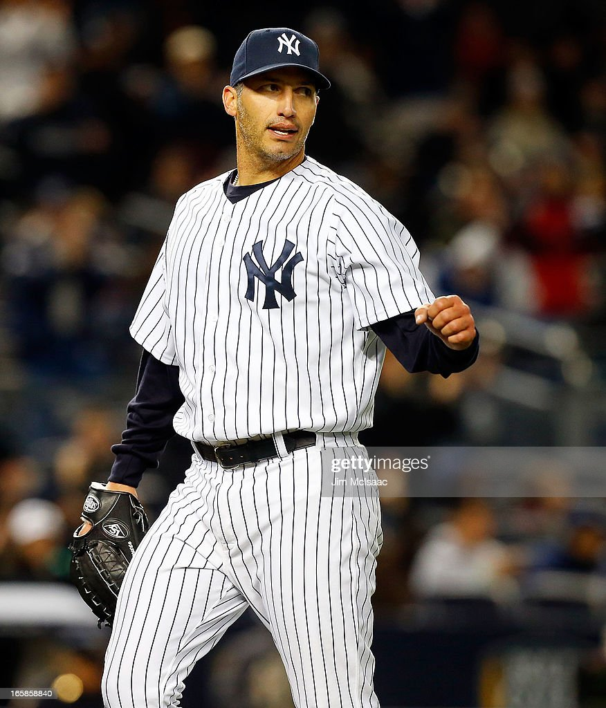 Andy Pettitte #46 of the New York Yankees in action against the Boston Red Sox at Yankee Stadium on April 4, 2013 in the Bronx borough of New York City. The Yankees defeated the Red Sox 4-2.