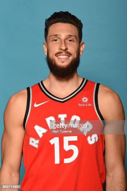 Andy Rautins of the Toronto Raptors poses for a head shot during Media Day on September 25 2017 at the BioSteel Centre in Toronto Ontario Canada NOTE...
