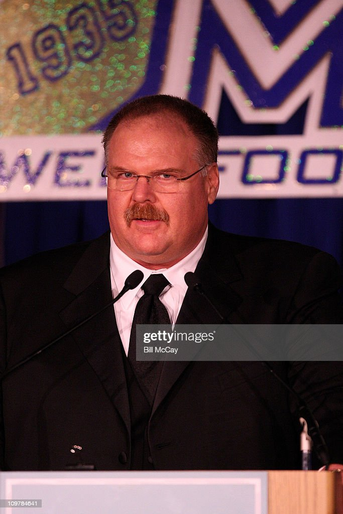 Andy Reid, Philadelphia Eagles Head Coach and Winner of the 22nd Annual Earle 'Greasy' Neale Award Winner for Professional Coach of the Year attends the 74th Annual Maxwell Football Club Awards Banquet at Harrah's Resort March 4, 2011 in Atlantic City, New Jersey.
