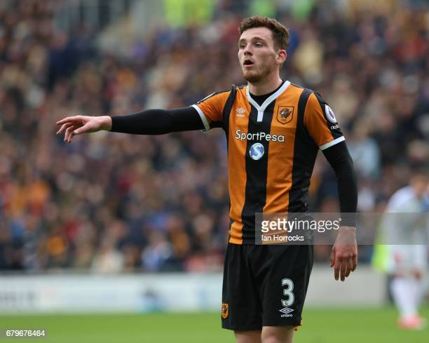 Andy Robertson of Hull City during the Premier League match between Hull City and Sunderland at KCOM Stadium on May 6 2017 in Hull England
